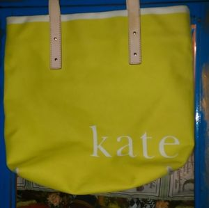 KATE SPADE NEW YORK CANVAS TOTE